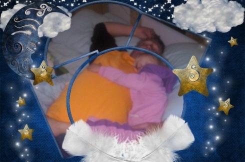 Pappa en Lala slaap