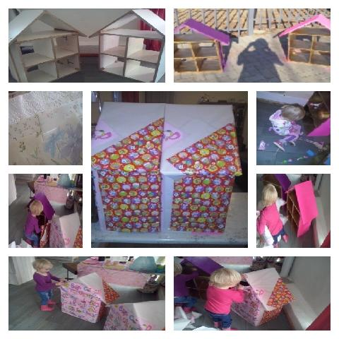 Ek het vir die meisies pophuise gemaak vir hul verjaardag