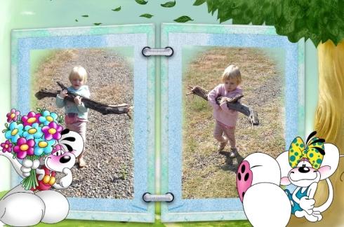 Bekkie en Lala dra hout aan om vleis te braai!