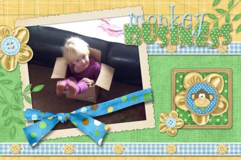 Bekkie in the box!