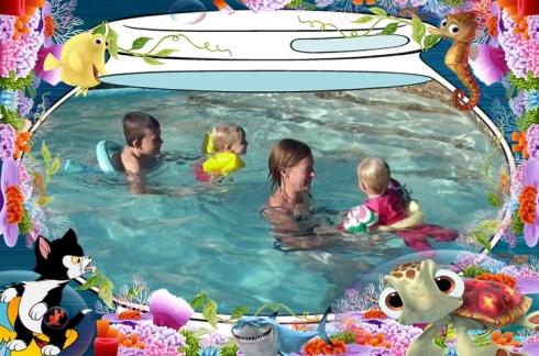 Ons het lekker geswem