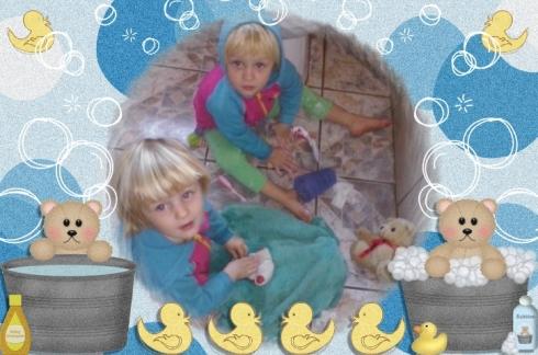 Lala en Bekkie maak skoon