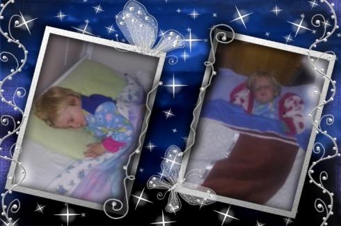 Lala en Bekkie slaap
