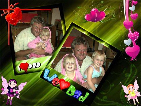 Pappa en die meisies