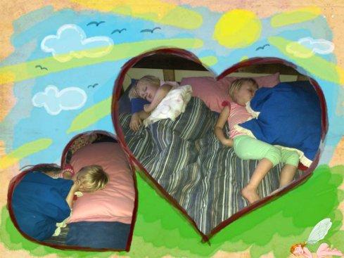 Die meisies slaap lekker
