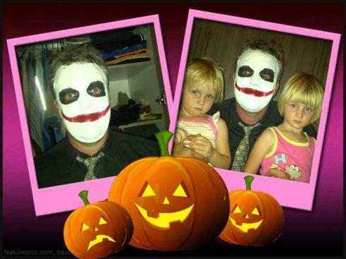 Ten spyte van mamma se teenkanting, het pappa tog na die Halloween partytjie gegaan...