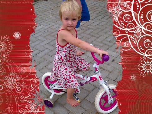 Bekkie met haar nuwe fiets