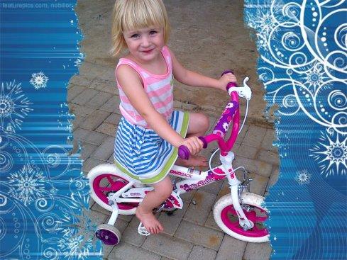 Lala met haar nuwe fiets