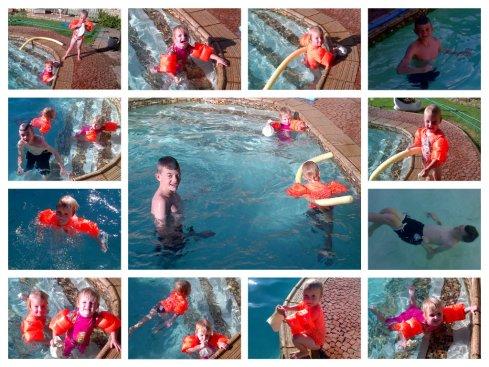 Ouboet en die meisies swem lekker